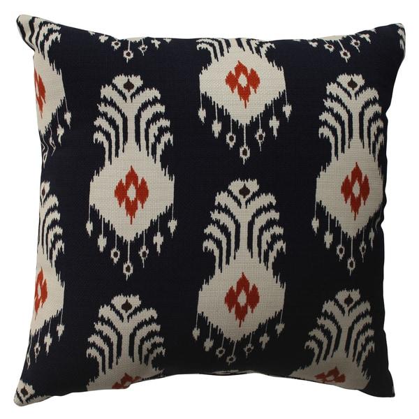 Pillow Perfect Ikat Crete 16.5-inch Throw Pillow