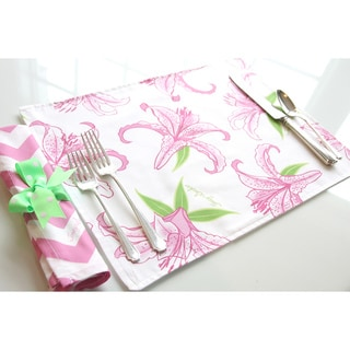 Tracy Sachs Stargazer Lily Cotton Placemat (Set of 4)