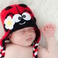 Handmade Baby Ladybug Knit Hat