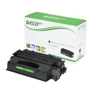 EcoPlus Black HP CE505X Remanufactured Toner Cartridge