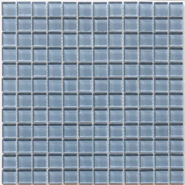 Martini Mosaic Piazza Bluestone Glass 12-inch Square Tile Sheets (Set of 10)