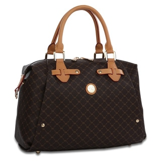 Rioni Signature Brown Cameron Satchel