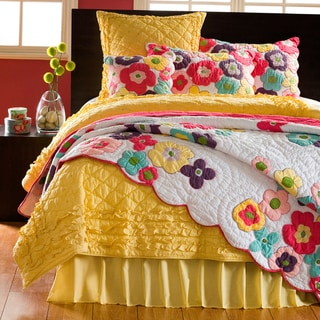 Kamila Girl Flower Quilt and Sham Separates
