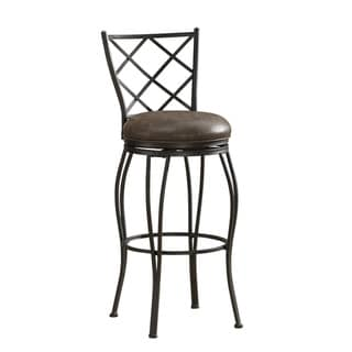 Ada Leather Seat Swivel Stool