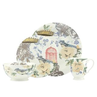 Lenox Collage 'Peony' Print 4-piece Stonewear Place Setting
