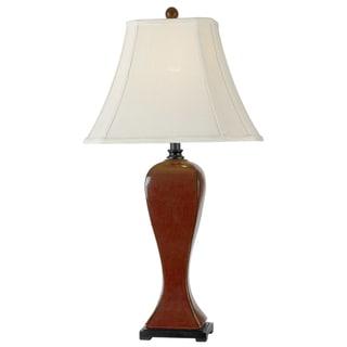 'Furnas' Crimson Ceramic Table Lamp