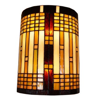 Amora Lighting Tiffany Style 2-light Geometric Wall Sconce ...
