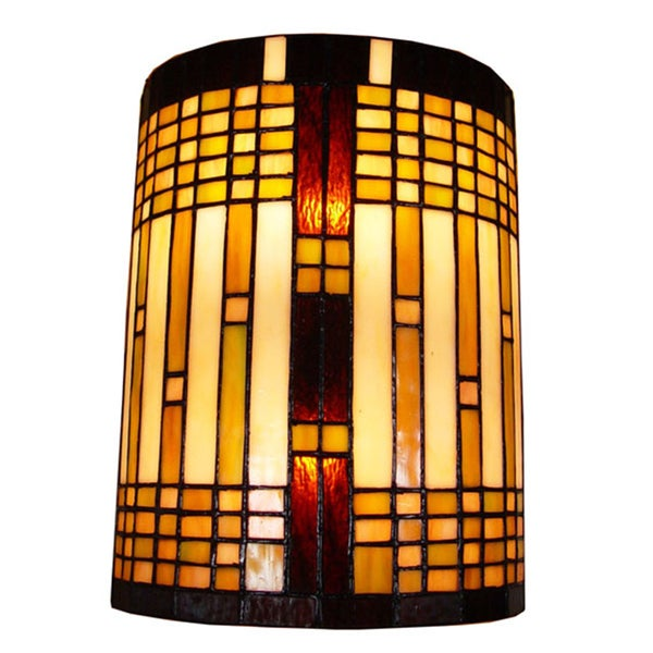 Wall Sconces Tiffany Style : Amora Lighting Tiffany Style 2-light Geometric Wall Sconce - 15456961 - Overstock.com Shopping ...