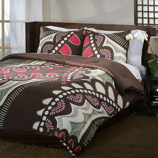 Funky Floral Reversible 3-piece Cotton Duvet Cover Set
