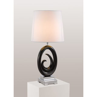 Gallery Modern Black Oval Shaped Table Lamp
