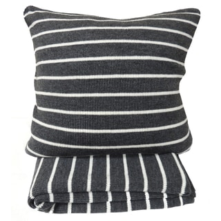 Daniel Grey Striped Throw or 20-inch Throw Pillow