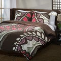 Funky Floral Reversible 3-piece Cotton Comforter Set