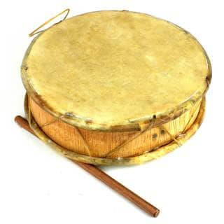 Handmade Medium Double-Faced Tinya Drum (Peru)