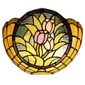 Amora Lighting Tiffany Style Tulips Wall Lamp