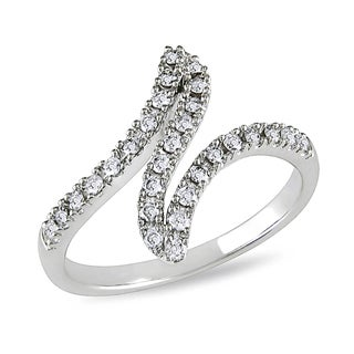 Miadora 10k White Gold 1/3ct TDW Diamond Ring (H-I, I2-I3)