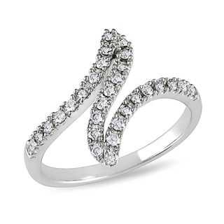 Miadora 10k White Gold 1/3ct TDW Twist Diamond Ring