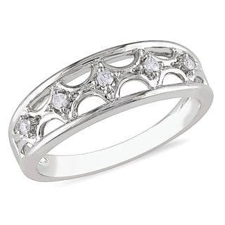 Miadora 10k White Gold Diamond Ring