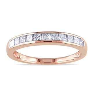 Miadora 14k Rose Gold 1/2ct TDW Diamond Anniversary Ring (H-I, I2-I3)