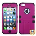 BasAcc Hot Pink/ Black TUFF Hybrid Stand Case for Apple iPhone 5
