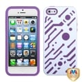 BasAcc Ivory White/ Electric Purple Hybrid Case for Apple iPhone 5