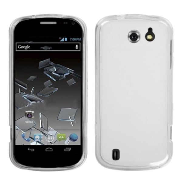 INSTEN Semi-Transparent White Candy Skin Phone Case Cover for ZTE N9500 Flash