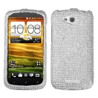 INSTEN Silver Diamante 2.0 Phone Case Cover for HTC One VX