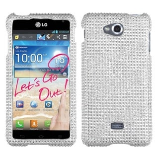 BasAcc Silver Diamante 2.0 Case for LG Spirit 4G MS870