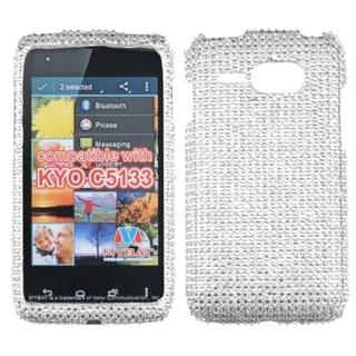 INSTEN Silver Diamante 2.0 Phone Case Cover for Kyocera C5133