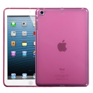 INSTEN Solid Hot Pink Candy Skin Tablet Case Cover for Apple iPad Mini