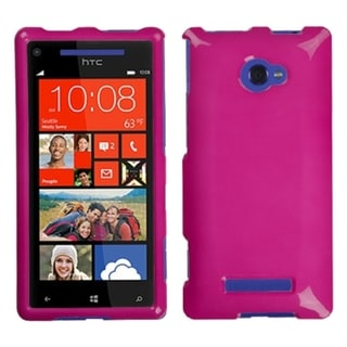Solid Hot Pink Phone Protector Case Cover For HTC Windows Phone 8X