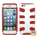 BasAcc Ivory White/ Red Fishbone Case for Apple iPhone 5
