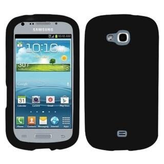 INSTEN Solid Black Skin Phone Case Cover for Samsung R830 Galaxy Axiom