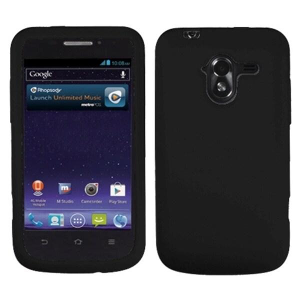 INSTEN Solid Black Skin Phone Case Cover for ZTE N9120 Avid 4G