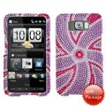 BasAcc Windmill Purple Diamante Case for HTC HD2