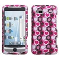 BasAcc Vibrant Hearts Sparkle Case for HTC G2 Vision