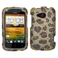BasAcc Leopard Skin/ Camel Diamante Case for HTC Desire C