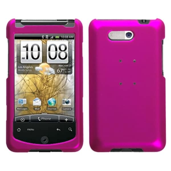 INSTEN Titanium Solid Hot Pink Phone Case Cover for HTC Aria