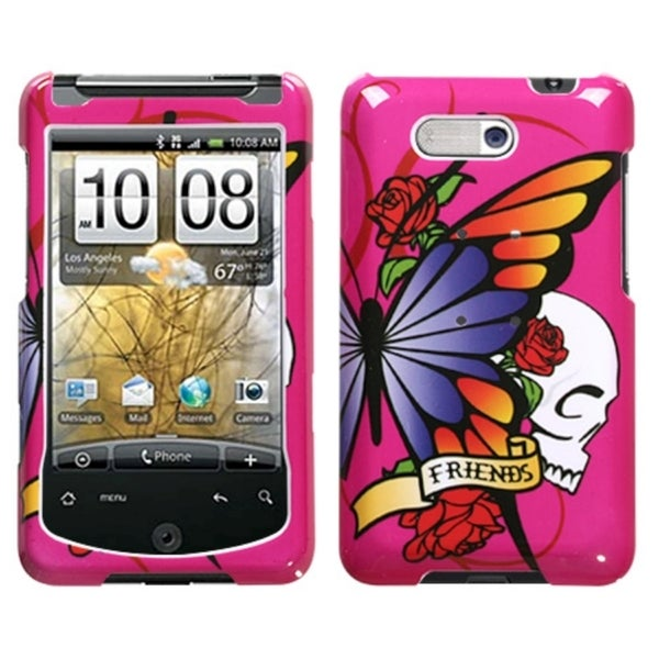 INSTEN Best Friend Hot Pink Phone Case Cover for HTC Aria