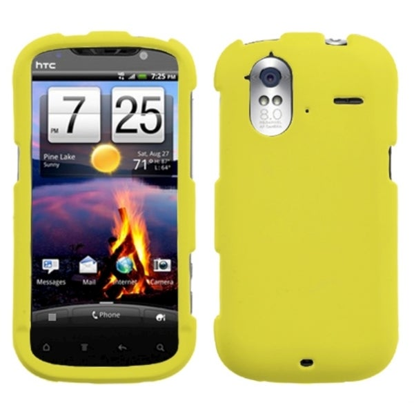 INSTEN Yellow Rubberized Phone Case Cover for HTC Amaze 4G