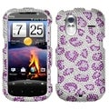 BasAcc Leopard Skin/ Purple Diamante Case for HTC Amaze 4G