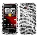 BasAcc Zebra Skin Diamante Case for HTC ADR6410 Incredible 4G LTE