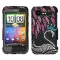 BasAcc Swan Diamante Case for HTC ADR6350 Darkoid Incredible 2
