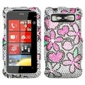 BasAcc Fantastic Flowers Diamante Case for HTC Trophy