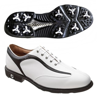 FootJoy Men's Icon White/ Black Golf Shoes