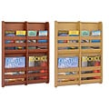 Safco 4 Pocket Bamboo Magazine Wall Rack