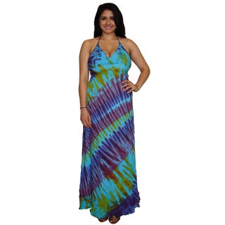 Long Tie Die Maxi Dress (Nepal)