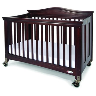 Foundations Royale EasyRoll Fixed-Side Folding Full-Size Crib