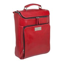 Women's Luis Steven Medium Briefcase Pack R-3470 A Red Leather