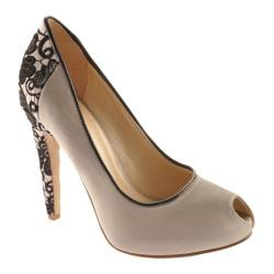 Women's Nine West Joan Silver/Black Satin