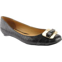 Women's Nine West Rueben Black/Black Crocodile